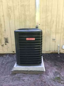 Clean Goodman Condenser Courtesy of Florida Cooling Store Inc. of Jacksonville, FL