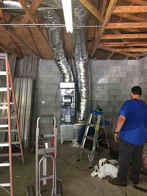 Adding New AC To A Garage Courtesy of Florida Cooling Store Inc. of Jacksonville, FL