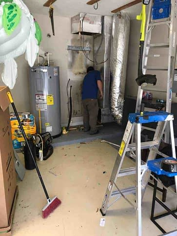 Getting A Job Ready For An Air Handler Installed By Florida Cooling Store in Jacksonville FL