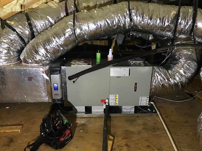 Horizontal Trane Air Handler Installed By Florida Cooling Store in Jacksonville FL