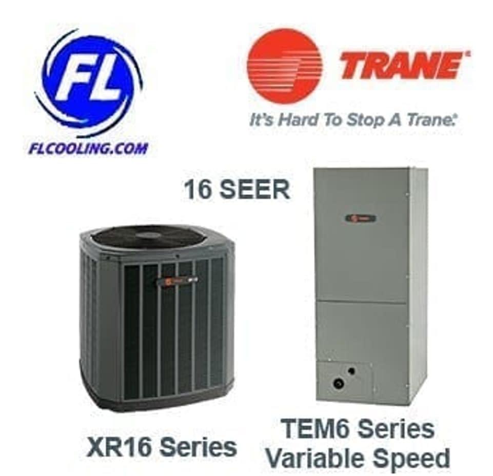 Trane 2 5 Ton 16 Seer Heat Pump Split System 4twr6030h1000 Tem6a0b30h21s 5 599 00 Fl Cooling Store