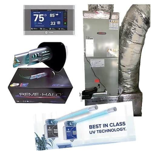FL Cooling Trane 16 SEER Variable Speed Air Handler With Virus Killing IAQ Reme Halo UV Purification