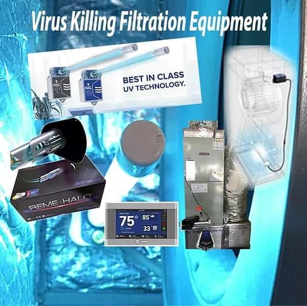 Virus Killing Whole Home IAQ UV Package