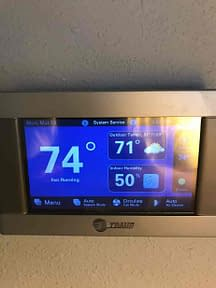 A new Nexia Trane Thermostat Courtesy of Florida Cooling Store Inc. of Jacksonville, FL