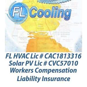 FL Cooling HVAC Lic #CAC1813316 Solar PV Lic #CVC57010